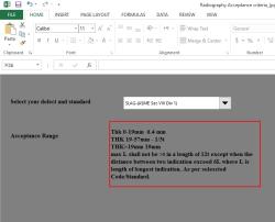 فایل مقایسه حد پذیرش عیوب جوش در ASME و API